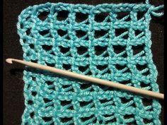 Mesh in tunisian crochet.