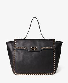 Studded Trim Handbag. Um, in love.