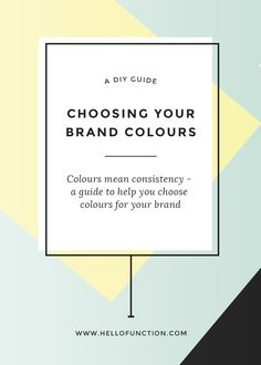 Colours are the key to consistency in your brand. Click the image for a guide to choosing colours for your business or blog! PLUS a free brand alignment mini series to help you get crystal clear on your purpose, messaging and audience.