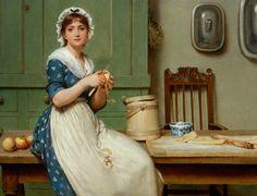 Apple Dumplings - George Dunlop Leslie (1880)