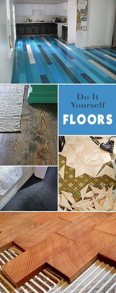 Best Diy Crafts Ideas For Your Home : Do It Yourself Floors  Great ideas projects and tutorials!  You too can l