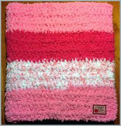The softest baby blanket ever!  Crochet pattern from Red Heart Buttercup Yarn.
