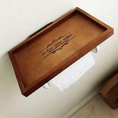 「1分で完成!トイレ用小棚◎サッと置いてちょっと便利に。」 by Ayaka_catさん   RoomClip mag   暮らしとインテリアのwebマガジン Ayaka, Tray, Trays, Board