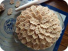 OMG  !!!!!!  thanksgiving pie -beautiful top
