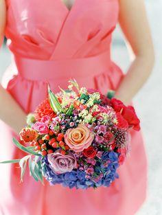 #SGWeddingGuide.com : We are loving this bright and colourful mixed flowers spring wedding bouquet! | SGWeddingGuide.com