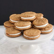 Ginger-Spice Sandwich Cookies with Lemon Cream Cheese Filling
