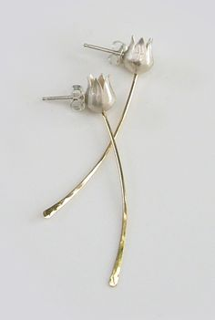 tulip earrings by Anat Basanta -- http://www.anatbasantajewelry.com/tulipearrings.html