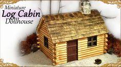 Cute Miniature Log Cabin - Dollhouse Tutorial