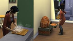 Mod The Sims - Rustic Clay oven. 2-2-2017 Update Plasma fruit and ambrosia pizzas added