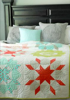 Camille's original Swoon quilt – circa 2011.  It was made with Ruby by Bonnie & Camille.