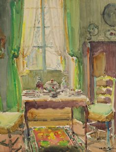 ◇ Artful Interiors ◇ paintings of beautiful rooms - Louis Agricol MONTAGNÉ