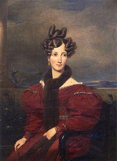 The Athenaeum - Grand Duchess Sophie of Baden with a Fur Stole (Franz Xavier Winterhalter - )