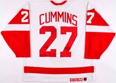 Detroit Red Wings – Rookie Enforcer – Jim Cummins #27 CCM's Game Worn Jersey 1992-93 NHL Season – Team Letter Jim King, Nhl Entry Draft, Phoenix Coyotes, Nhl Season, Ice Hockey Players, New York Islanders, Tampa Bay Lightning, Colorado Avalanche, Philadelphia Flyers