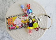 Together Colorful Patchwork Keychain, Purse Accessory, Zipper Pull from the Etsy Store, Curios + Keys