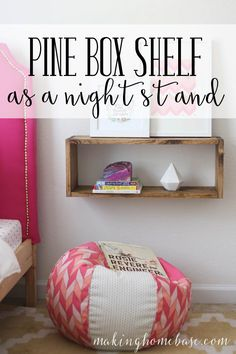 This beginner's building project makes a pine box shelf the perfect alternative to a nightstand.