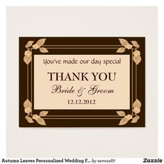 Autumn Leaves Personalized Wedding Favor Gift Tags Wedding Favours Thank You, Wedding Gift Tags, Party Favor Tags, Personalized Wedding Favors, Personalized Gift Tags, Gift Tags Printable, Sticker Shop, Autumn Leaves, Fall Leaves