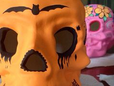 Traditional Mexican Day of the Dead Ceramic Skull Halloween Themed on Etsy, $100.00 AUD
