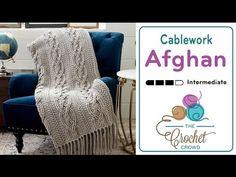 Crochet Cablework Afghan + Tutorial - The Crochet Crowd®