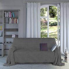 Plaid ou jeté de canapé coton uni tissage relief Tertio®. Un plaid ou jeté de canapé uni en coton au tissage relief, à poser partout ! Il illumine votre cadre de vie et lui donne une touche personnelle.