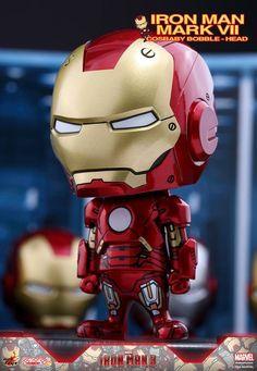 Hot Toys – COSB267 – Iron Man 3 - Iron Man Mark VII Cosbaby Bobble-Head Chibi Marvel, Marvel Avengers, Funko Pop, Avengers Superheroes, Iron Man 3, Doraemon, Cosplay, Bobble Head, Cartoon Styles