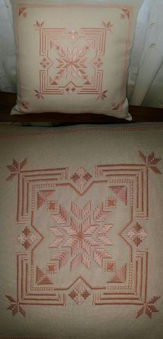 Hardanger Embroidery, Hand Embroidery, Cross Stitch Beginner, Needlework, Diy And Crafts, Throw Pillows, Texture, Fabric, Pattern