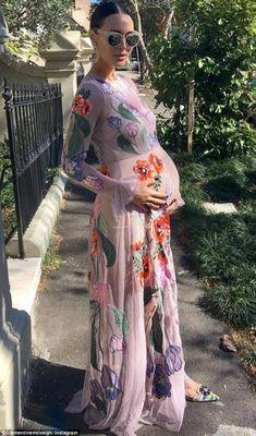 Clementine McVeigh.. ASOS gown, with Dolce & Gabbana heels.. #stylethebump #chicbump #dressingthebump #babyshower