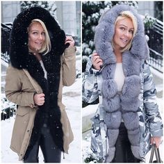"Left or Right?  Beautiful Winter Parka  Shop here  @katesfurcollection ""Tag #bff Who Would Love This"" ""Get 15% Off With Code (FASHION_COSMOPOLITAN)"" ""Express Worldwide Delivery"" ""Shop Online"" ✨www.katesfurcollection.com✨"