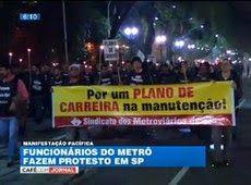 Galdino Saquarema Noticia: Funcionários do Metrô protestam de madrugada em SP...