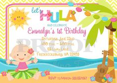 Printable Invitation  Personalized Hula Baby by ciaobambino, $12.00