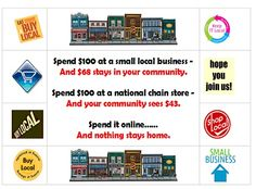 there are benefits - importants effects - to shopping locally!