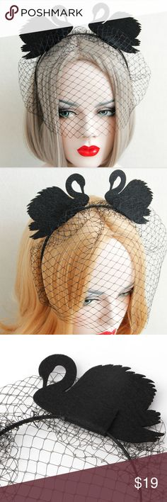 Black Swans Veil Headband Gorgeous!!! Brand New without tags // tags: gothic goth spooky spook stunning beauty beautiful awesome amazing cool wicked mourning mourn sexy hot pretty girls girls girl women woman headbands accessories fun mesh net fishnet swan animals animal costumes halloween costume rad neat badass bnwot nwot hair lovely love unique alternative dark dreamy cute black Accessories Hair Accessories