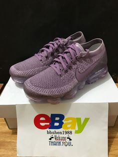 e4efa550b9d47e New Women Nike Air Vapormax Flyknit Violet 849557-500 DS Dust Plum Fog