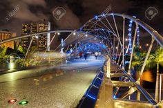 SINGAPORE - JANUARY 2: View Of The Helix Bridge On January 2 ...