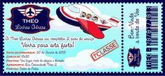"""Felipe, o pequeno viajante: festa de aniversário com o tema """"Theo Linhas Aéreas"""", pela Karla Alves Leal"""