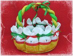 Como fazer cesta de páscoa em tecido + 23 Modelos de Cestas de Páscoa