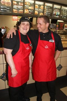 """Thank you to Arby's for supporting employment for people with disabilities! Michelle Alvord has worked at Arby's for more than two years and has had great success in her job. She has built a great relationship with her manager, as well as with customers. Michelle takes pride in her work; she clears tables, greets customers and keeps the restaurant spotlessly clean.   """"I can meet people at Arby's. It's my favorite job that I've had. I don't want to work anywhere else,"""" said Michelle. #NDEAM"""