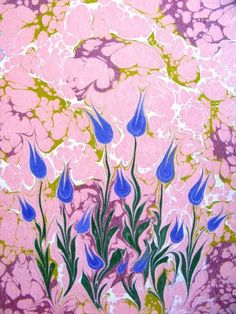Traditional Ottoman art 'Ebru' by pırıltı Esengul Inalpulat Water Paper, Ebru Art, Earth Pigments, Water Marbling, Turkish Art, Marble Art, Pictures To Draw, Botanical Illustration, Fabric Painting