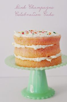 Pink Champagne Celebration Cake