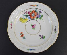 "Vintage Signed Dresden German Porcelain Hand Painted Floral Saucer Plate Dish FOR SALE • £14.66 • See Photos! Money Back Guarantee. Welcome Please Be Sure To Check Out My Other Items Fine Art, Collectibles, Jewelry Vintage Porcelain Saucer SignedDresden Elegant White Porcelain 6 1/4"" Diameter Saucer PlateBeautiful Hand Painted Floral DecorRaised 151668166214"