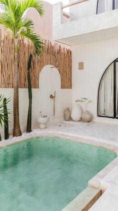 Home Design Decor, Dream Home Design, House Design, Home Decor, Backyard Pool Designs, Small Backyard Pools, Exterior Design, Interior And Exterior, Exterior Homes