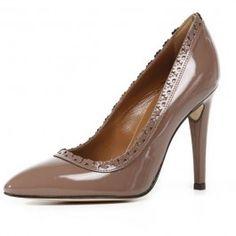 Pantofi femei GEOX Larisa bej lacuiti cu toc inalt