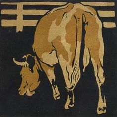 William Nicholson | La mucca servile, on Galleria dell'Incisione. Cow litho
