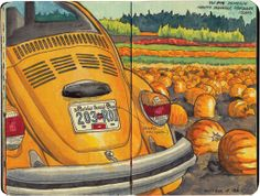 Pumpkin-mobile Saanich Peninsula, Vancouver Island, BC, Canada