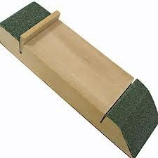wooden sanding block and sandpaper