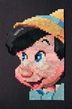 Pinocchio perler bead pixel art