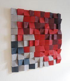 Pixel Wandskulptur - Farben auf Wunsch, 75x75cm von HolzFranz auf DaWanda.com