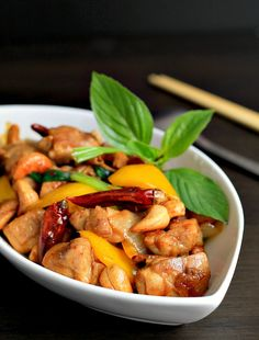 my bare cupboard: Thai chicken with cashews and chilies