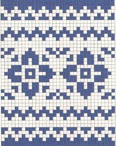 Жаккардовые узоры -2. Схемы   Домохозяйка Tapestry Crochet Patterns, Fair Isle Knitting Patterns, Fair Isle Pattern, Knitting Charts, Knitting Stitches, Knitting Socks, Knit Patterns, Beading Patterns, Baby Knitting
