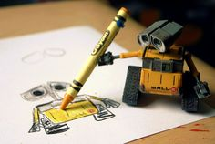 WALL-E drawing. So cute.