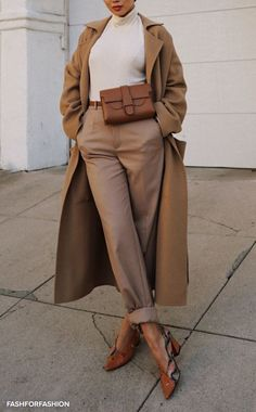Beige Look From Zara - Outfit inspirations - Zara Outfit, Beige Outfit, Neutral Outfit, Brown Outfit, Pants Outfit, Look Fashion, Hijab Fashion, Winter Fashion, Fashion Outfits